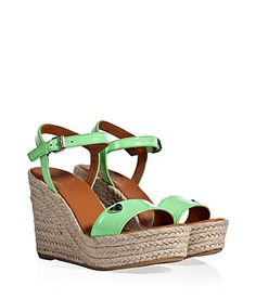 Kick up summer looks with a punch of pastel in Marc by Marc Jacobs' platform wedges #Stylebop