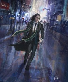 Loki. Walking Lonely Streets. by MisterLIAR << this gives me a Harry Potter vibe