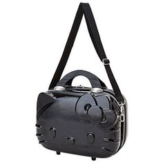 New Sanrio Hello Kitty Small Trunk Shoulder Bag Black Japan