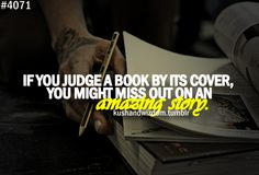 Never judge a book by its cover.