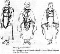 Lībiešu sievietes. Anna Zariņa. Apģērbs Latvijā 7.-17. gs. 93. lpp.
