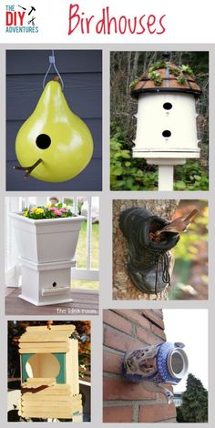 Six diy birdhouse projects bird houses bird houses diy, bird