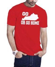 Go Kentucky Or Go Home Kentucky Map T-Shirt Red