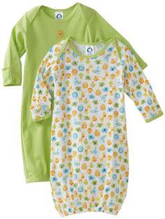 Amazon.com: Gerber Unisex-Baby Newborn 2 Pack Lap Shoulder Gown, Green, 0-6 Months: Clothing