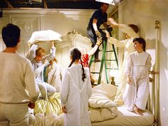 "Behind the Scenes on The Sound of Music, 50 Years Later | A 'FAVORITE' SCENE | Andrews and the children shot the bedroom scene, in which they sang ""My Favorite Things,"" on their first day of filming."