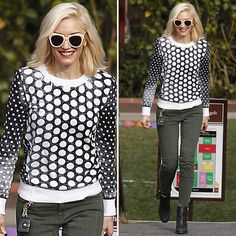 Shop Gwen Stefani's Cool (and Budget-Friendly) Polka-Dot Sweater
