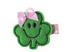 ON SALE St. Patricks Day Shamrock Felt Hair by TheHairBowPatch, $2.95