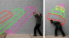 SITE SPECIFIC, PERSPECTIVE, TAPE MURAL, FORM, CONTEMPORARY ARTIST