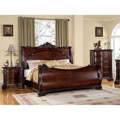 Furniture of America Wilshire 3 Piece California King Bedroom Set