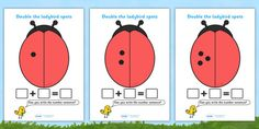 Double The Ladybird Spots Sheets (Minibeasts) Interactive Activities, Teaching Activities, Craft Activities, Behaviour Management, Primary Resources, Numeracy, Addition And Subtraction, Eyfs, Your Child