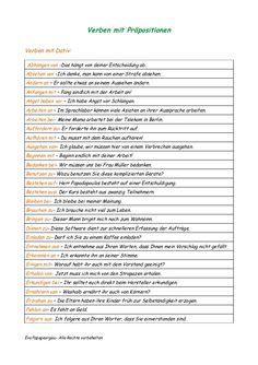 Verben Mit Akkusativ, Verben Mit Dativ, Deutsch Language, Learning Languages Tips, Grammar Tips, German Grammar, German Language Learning, Learn German, Educational Programs