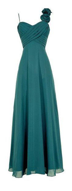 Emerald rosette gown