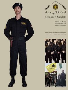 Fedayeen Saddam First Lieutenant in regular uniform (Private collection).