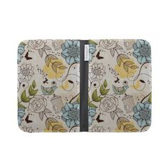 doodle birds kindle keyboard case by Ancellos_Textures