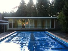 Swimming pool of the Blaha house in Best.