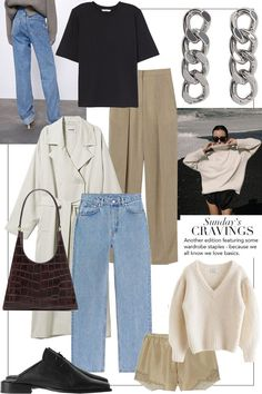 Sundays Cravings: Because we all love basics teetharejade Vintage Vogue, Moda Vintage, Vintage Fashion, Mode Pastel, Vogue Cover, Looks Plus Size, Business Outfit, Style Snaps, Minimal Fashion