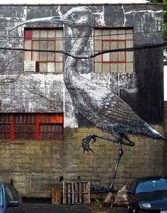 ROA street art.
