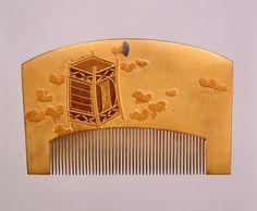 蔦の細道蒔絵櫛,、19世紀