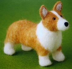 felt dog japanese needlefelting craft book by toni