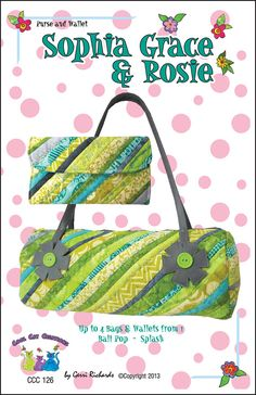 Sophia Grace & Rosie Pattern for Bag and by coolcatsandquilts