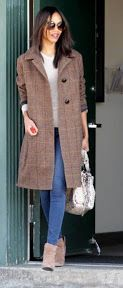 Zoe Saldana looks amazing in the Jackson Coat! This is the perfect pick up and go coat, and there is no way to look anything but chic in this jacket!