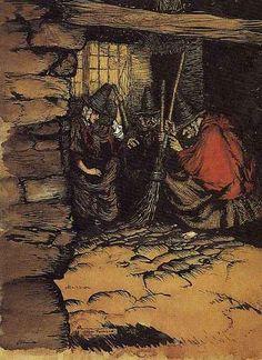 Arthur Rackham - Three Witches