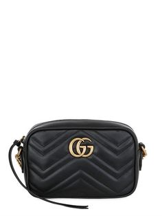 Mandy Cg Logo Quilted Cross Shoulder Bag Leather And