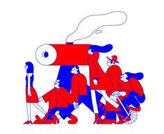 Illustrations by London-based graphic artist Nicolas Ménard (originally from Montreal)