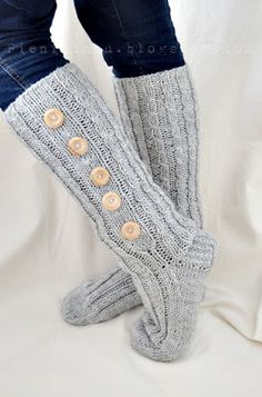 Long socks with buttons! Awesome for winter!