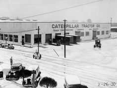 Here's the first office of the #CaterpillarTractorCo. after being set up in 1925: http://www.petersoncat.com/history/1900s