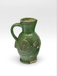 pitcher, Anonymous, c. 1600   Museum Boijmans Van Beuningen. This I only about 5 1/2 inches tall.