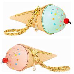 adorable Ice Cream cone wristlet