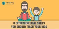 Pumpic Shares Entrepreneurial Skills for Kids in Educative Infographic