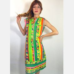 60's Shift Dress Floral now featured on Fab.