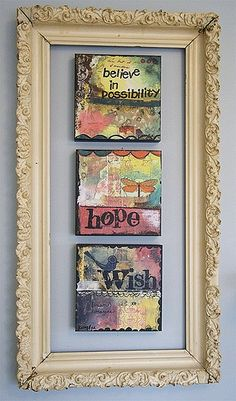 kelly rae roberts canvases - love this girl's work. Love the framing
