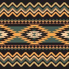 Etnia ornamentali tessile Seamless disegno geometrico Archivio Fotografico - 17773672