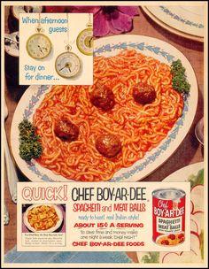Chef Boy-Ar-Dee Spaghetti and Meat Balls