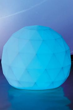 With these geometric globes glowing in the garden, along the deck, or in the pool, summer entertaining becomes a brilliant affair. Gentle LED light diffuses from within with static white, a static color or continually changing colors for a magical effect. Can be hung or can float.