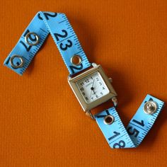 Tape Measure Watch in Blue by undoneclothing on Etsy
