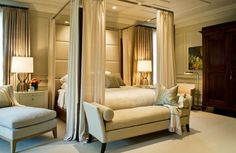 Long sheer curtains are an easy and perfect way to add some romance to a bedroom