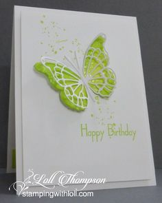 Stamping with Loll: Faux Mother of Pearl Birthdays
