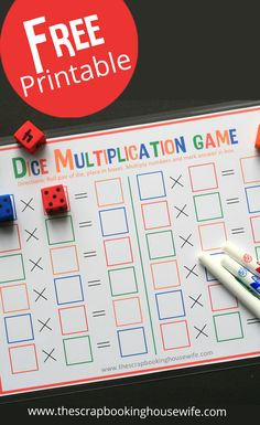 Dice Multiplication MATH Game for Kids – Free Printable! Dice Multiplication MATH Game for Kids – Free Printable! Multiplication Games For Kids, Math Games For Kids, Multiplication Strategies, Kids Math, Math Games With Dice, Cool Math For Kids, Third Grade Math Games, Multiplication Tables, Kid Games