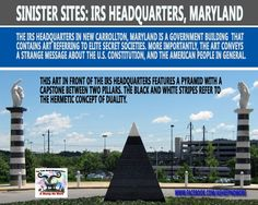 The IRS headquarters in New Carrollton, Maryland is a government building  that, despite being constructed with public funds, contains art referring to elite secret societies.   http://vigilantcitizen.com/sinistersites/sinister-sites-irs-headquarters-maryland/