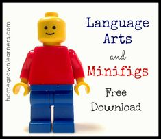 Language Arts and Minifigs Free Download #legolearning #legos