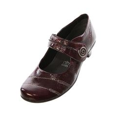 Remonte Womens Ladies D7205 14 Red Patent Leather Velcro Strap Shoe - £56.99 - Top quality Remonte footwear from Barnets Shoes