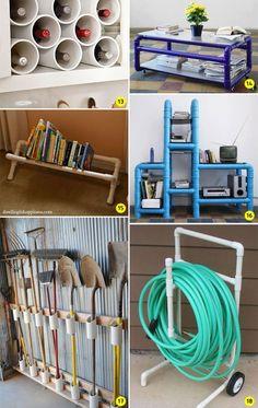 DIY: 24 ideias para decorar e organizar a casa usando canos de PVC - Casinha…