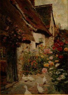 Une porte de la maison de David Woodlock (1842-1929, Ireland)