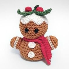 gingerbread man bust amigurumi pattern