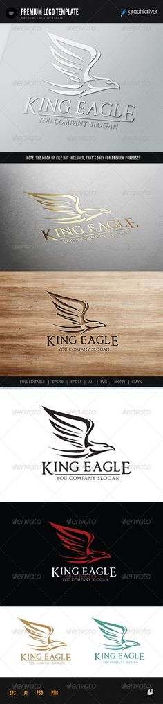 King Eagle — Vector EPS #hotel #king • Available here → https://graphicriver.net/item/king-eagle/7138333?ref=pxcr