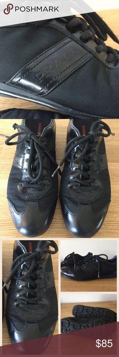 Selling this Black Prada Sneakers on Poshmark! My username is: kt_wood. #shopmycloset #poshmark #fashion #shopping #style #forsale #Prada #Shoes